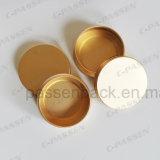 Анодированная золотистая алюминиевая жестяная коробка чая