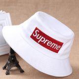 Processamento feito sob encomenda, chapéu da cubeta do bordado do chapéu do pescador