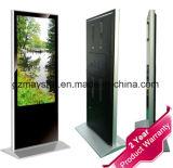 55 Zoll-freie stehende grundlegende Version LCD, die Bildschirm bekanntmacht