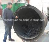 Carvão vegetal de madeira a rendimento elevado do BBQ que faz a máquina