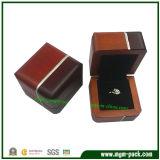 Caixa de madeira da jóia luxuosa de duas cores
