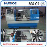 Máquina horizontal Awr3050 del torno del CNC de la reparación del corte del diamante de la rueda de la aleación