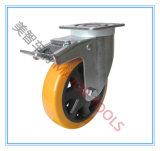 5-8 Zoll Hochleistungs-PU-Rad-industrielle Fußrolle