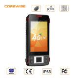Téléphone mobile intelligent raboteux avec l'IDENTIFICATION RF et le lecteur d'empreintes digitales d'à haute fréquence de code de Qr