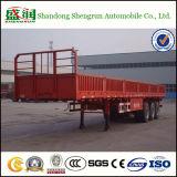 Kapazitäts-seitliche Wand-Ladung-LKW-Flachbettschlußteil der Fuwa Wellen-60tons