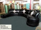 Sofa moderne de cuir de forme d'U (958)