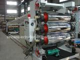 PVC対ねじ押出機が付いている固体柔らかいシートの放出の生産機械