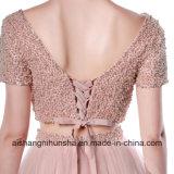 V-Collet A - ligne longue robe de Tulle de soirée deux parties de robe de bal d'étudiants