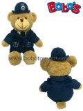 장난감 곰이 세륨 표 견면 벨벳 주문 경찰에 의하여 사람을 배치한다