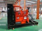 Conjunto de generador del biogás de la prueba de los sonidos Lvhuan 300kw Cummins con el enchufe de fábrica de la refrigeración por agua de CHP para el mercado de ultramar