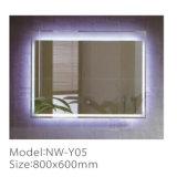 Espelho decorativo leve Rustproof moderno do diodo emissor de luz do banheiro