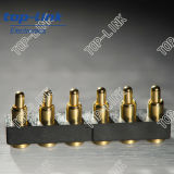 Pin Connector di Gold Plated Pogo dell'Au con Sorgente-caricato, Saving Space, High Current e Reliability