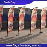 Hotsale kundenspezifische Fliegen-Strand-Markierungsfahnen-Fahnen 2016 und Feder-Markierungsfahne