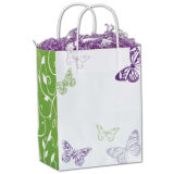 Chic Silvery Shoppers Paper Bag/Shopping Bag/Gift Box and Bag/Carrier Paper Bags with Handle in Good Quality