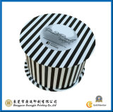 Contenitore di imballaggio di carta rotondo della banda in bianco e nero (GJ-Box060)