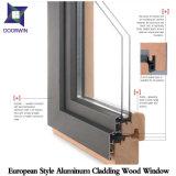 Cigûe/chêne/guichet en aluminium en bois d'inclinaison et spire de teck, guichet en aluminium plaqué en bois fortement félicité de tissu pour rideaux