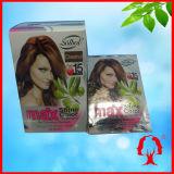 Castaña 30ml/PCS del champú del color del pelo