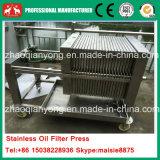 Pequeña máquina hidráulica del filtro de la placa y del aceite de cocina del marco