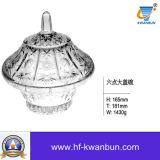 Tazón de fuente de cristal del lavabo de la alta calidad con el buen vajilla Kb-Hn0376 del precio