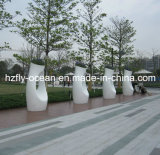 Grande plantador decorativo da fibra de vidro