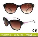 Handgemachte Azetat-Form-Großhandelssonnenbrillen (73-B)