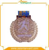 Medaglia superiore del metallo con smalto molle