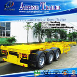 2*20ft Contailer Chassis/40ft Flatbed Trailer with Side Wall