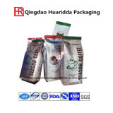 250g 500g 1kg 2kg 12oz 14oz 16oz Aluminiumfolie-schwarzer seitlicher Stützblech-Kaffee-Plastikbeutel-Mattbeutel