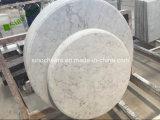 Parte superior de tabela de mármore branca italiana barata de Bianco Carrara