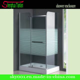 Rectangle Tempered Fiberglass Glass Banheiro Dobradiça Shower Cubicle (TL-509)