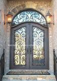 細工した鋼鉄および緩和されたガラスの出入口