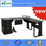 최신 판매 L 모양 유리제 사무실 책상 (RX-D1169)