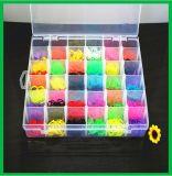 Envase plástico de la herramienta de la joyería del rectángulo de almacenaje de la ranura del compartimiento de 36 redes