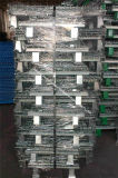 Galvanized Wire Mesh Container Warehouse Storage를 위한 Foldable & Stackable