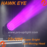 호크 아이 22X30W RGBW 4IN1 꿀벌 아이 는 머리 를 LED 이동