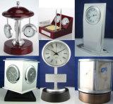 Reloj de escritorio de madera del negocio del oro hermoso de lujo K8027g