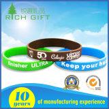 Freies Beispielbildschirm-Drucken kundenspezifische Firmenzeichen-Strudel-Silikon-Armbänder