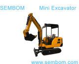 Mini excavatrice multifonctionnelle 2.2ton (SE22) pour cultiver, construction civique, faisant du jardinage
