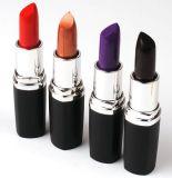 Rouge à lèvres très chaud argenté violet de Special de couleurs de l'or 6 de rouge bleu de nouveau de lèvre de crème de couleurs foncées de lèvre noir de crayon