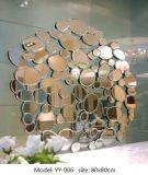Зеркало декоративного серебряного зеркала ручной работы стеклянное