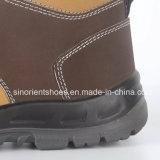 Sapatas de segurança de couro amarelas Snn409 de Nubuck