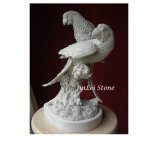 Steinschnitzende Tierstatue geschnitzte Garten-Marmorskulptur für Dekoration