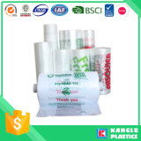 Sacchetto libero di plastica dei prodotti per il supermercato