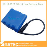 Li-Ion 18650 2.2ah 14.8V 4s Battery Pack mit PCM