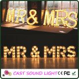 Lumière de fantaisie de signe de lettre de DEL pour la décoration de mariage/usager/Noël
