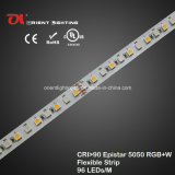 Alta tira flexible IP68, luz del CRI Epistar 5050 RGBW de la UL del LED