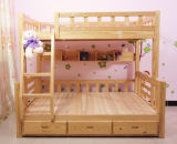 A cama de beliche simples da cama de beliche da madeira contínua caçoa a cama (M-X1033)