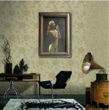 La ragazza nuda prega al dio su pittura a olio