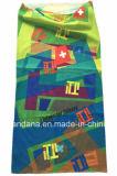 De naar maat gemaakte Sjaal Bandana van de Buis van Microfiber van de Polyester Naadloze Bleekgele