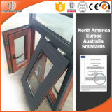 Canadá Toronto Toldo de aluminio Clading ventana de madera maciza con certificación CE, Ventana de madera con revestimiento de aluminio exterior